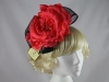 Failsworth Millinery Coral and Black Headpiece